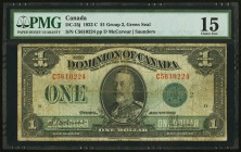 Canada Dominion of Canada $1 1923 DC-25j PMG Choice Fine 15.   HID09801242017