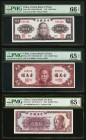 China Central Bank of China 1000; 10,000; 100,000 Yuan 1945; 1947; 1949 Pick 290; 319; 421 Three Examples PMG Gem Uncirculated 66 EPQ; Gem Uncirculate...