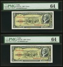 Cuba Banco Nacional de Cuba 5 Pesos 1960 Pick 91c Five Consecutive Examples PMG Choice Uncirculated 64.   HID09801242017