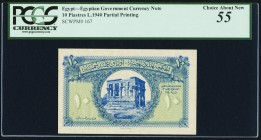 Egypt Egyptian Government 10 Piastres 1940 Pick 167 PCGS Choice About New 55. Small ink mark on back.  HID09801242017