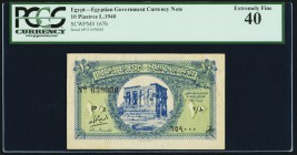Egypt Egyptian Government 10 Piastres 1940 Pick 167b PCGS Extremely Fine 40.   HID09801242017