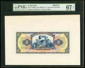 El Salvador Banco Occidental 2 Colones ND (1926-29) Pick S194fp Front Proof PMG Superb Gem Unc 67 EPQ.   HID09801242017