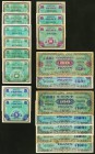 Eighteen Examples of Allied Military Currency from France. Very Good to Crisp Uncirculated.   HID09801242017