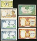 A Selection of Seven Notes Issued in the 1950s in French Indochina. Very Fine or Better.   HID09801242017