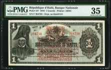 Haiti Banque Nationale de la Republique d'Haiti 1 Gourde 1916 Pick 137 PMG Choice Very Fine 35.   HID09801242017
