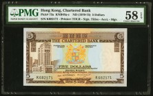Hong Kong Chartered Bank 5 Dollars ND (1970-75) Pick 73a KNB48 PMG Choice About Unc 58 EPQ.   HID09801242017