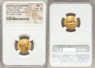 MACEDONIAN KINGDOM. Philip II (359-336 BC). AV stater (18mm, 8.60 gm, 6h). NGC MS 4/5 - 5/5. Late lifetime to early posthumous issue of Amphipolis, ca...