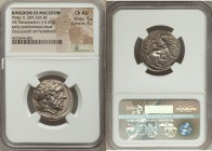 MACEDONIAN KINGDOM. Philip II (359-336 BC). AR tetradrachm (24mm, 14.47 gm, 5h). NGC Choice AU 5/5 - 4/5. Posthumous issue of Amphipolis, ca. 323-315 ...