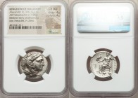 MACEDONIAN KINGDOM. Alexander III the Great (336-323 BC). AR tetradrachm (25mm, 17.04 gm, 12h). NGC Choice AU 4/5 - 4/5. Late lifetime-early posthumou...