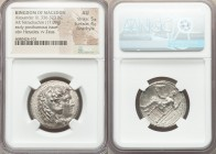MACEDONIAN KINGDOM. Alexander III the Great (336-323 BC). AR tetradrachm (26mm, 17.09 gm, 2h). NGC AU 5/5 - 4/5, Fine Style. Early posthumous issue of...