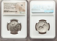 MACEDONIAN KINGDOM. Alexander III the Great (336-323 BC). AR tetradrachm (27mm, 2h). NGC XF. Late lifetime to early posthumous issue of 'Side', ca. 32...