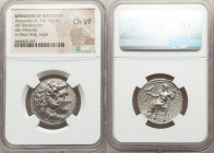 MACEDONIAN KINGDOM. Alexander III the Great (336-323 BC). AR tetradrachm (26mm, 1h). NGC Choice VF. Late lifetime or early posthumous issue of 'Babylo...