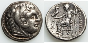 MACEDONIAN KINGDOM. Alexander III the Great (336-323 BC). AR tetradrachm (26mm, 16.98 gm, 7h). VF. Posthumous issue of Amphipolis, ca. 310-294 BC. Hea...