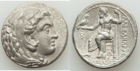 MACEDONIAN KINGDOM. Alexander III the Great (336-323 BC). AR tetradrachm (26mm, 16.82 gm, 10h). XF. Lifetime or early posthumous issue of Aradus, ca. ...