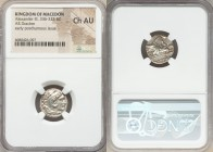 MACEDONIAN KINGDOM. Alexander III the Great (336-323 BC). AR drachm (17mm, 8h). NGC Choice AU. Posthumous issue of Mylasa, ca. 310-300 BC. Head of Her...