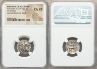 MACEDONIAN KINGDOM. Alexander III the Great (336-323 BC). AR drachm (18mm, 12h). NGC Choice XF. Early posthumous issue of Magnesia ad Maeandrum, ca. 3...
