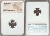 ATTICA. Athens. Ca. 440-404 BC. AR hemidrachm (12mm, 7h). NGC VF. Head of Athena right, wearing crested Attic helmet ornamented with three laurel leav...