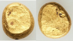 IONIA. Uncertain mint. Ca. 600 BC. EL typeless fraction or ingot (10mm, 4.13 gm). AU. Small electrum nugget, flattened on both sides, weighing a bit u...