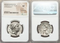 SELEUCID KINGDOM. Antiochus III the Great (222-187 BC). AR tetradrachm (29mm, 12h). NGC XF, lt. smoothing. Seleucia on the Tigris, winter 211/0 BC. Di...