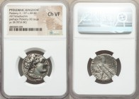 PTOLEMAIC EGYPT. Ptolemy XII Auletes (80-51 BC). AR tetradrachm (23mm, 12h). NGC Choice VF. Alexandria, Regnal Year 17 (65/4 BC). Diademed head of Pto...
