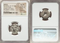 JUDAEA. Bar Kokhba Revolt (AD 132-135). AR zuz (19mm, 3.22 gm, 7h). NGC Choice AU 4/5 - 4/5, overstruck. Undated issue of Year 3 (AD 134/5). Simon (Pa...