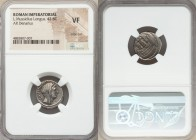 L. Mussidius Longus (ca. 42 BC). AR denarius (17mm, 5h). NGC VF, edge cut. Rome. CONCORDIA, diademed and veiled head of Concordia right, star before /...
