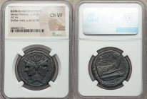 Sextus Pompey, as Imperator and Praefect of the Fleet (42-36 BC). AE as (30mm, 11h). NGC Choice VF. Uncertain Sicilian mint. MAGN (partially ligate), ...