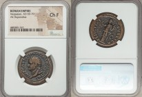 Vespasian (AD 69-79). AE dupondius (27mm, 7h). NGC Choice Fine. Rome, AD 74. IMP CAES VESP AVG P M T P COS IIII CENS, radiate head of Vespasian left /...
