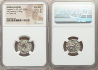 Faustina Junior (AD 147-175/6). AR denarius (18mm, 3.43 gm, 2h). NGC Choice AU 5/5 - 4/5. Rome, AD 170-175/6. FAVSTINA-AVGVSTA, draped bust of Faustin...