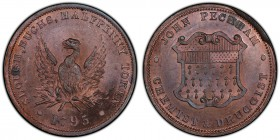 Buckinghamshire copper 1/2 Penny Token 1795 MS64 Red and Brown PCGS, D&H-27. Phoenix, SLOUGH, BUCKS, HALFPENNY TOKEN * 1795 * around / Shield of arms,...