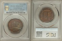 Essex, Colchester copper 1/2 Penny Token 1794 MS63 Brown PCGS, D&H-10. Edge: PAYABLE AT CHARLES HEATHS BAY MAKER COLCHESTER . X. Colchester Castle / A...