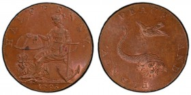 Hampshire, Emsworth copper 1/2 Penny Token 1793 MS64 Brown PCGS, D&H-11, Conder p.233, 193, Pye p.51, 12, Atkins p.36, 7. Edge: CURRENT EVERY WHERE - ...