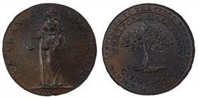 Herefordshire, Hereford copper 1/2 Penny Token 1794 MS63 Brown PCGS, D&H-5. SUCCESS TO THE CIDER TRADE* / HEREFORD HALFPENNY / C: HONIATT: / BIRM.m WA...