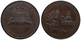 Kent, Deptford copper 1/2 Penny Token 1795 MS63 Brown PCGS, D&H-13a. Kentish men meeting William the Conqueror, 1067 below, KENTISH LIBERTY PRESERVED ...