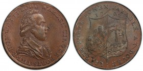 Kent, Dover copper 1/2 Penny Token 1794 MS64 Brown PCGS, D&H-16a. Edge: PAYABLE IN LANCASTER LONDON OR BRISTOL. Bust facing right, THE . R . HON . W ....