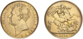 George IV (1820-1830). Two Pounds, 1823, bare head. (S.3798). Hairlines, Good Fine.