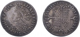 Elizabeth I (1558-1603), Sixpence, 1562, milled issue, mm. star, decorated dress. (N.2026, S.2595). Trace of crease otherwise Very Fine.