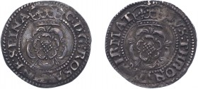 Charles I (1625-1649), Halfgroat, undated, rose both sides, no mm. (N.2248, S.2822). Good Very Fine with underlying brilliance.