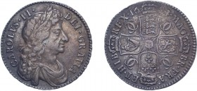 Charles II (1660-1685). Halfcrown, 1684/3, fourth bust, edge T.SEXTO. (ESC 499, S.3367). Once wiped, now retoned. Some weakness by date otherwise near...