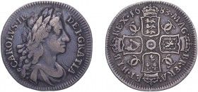 Charles II (1660-1685). Shilling, 1683, fourth bust. (ESC 558, S.3381). Good Fine and rare. Ex Dr John Hulett collection, DNW 13/9/2017 (lot 512)