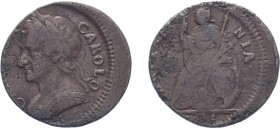 Charles II (1660-1685). Farthing, 1674, Cuir. bust. (BMC 527, S.3394). Major off centre strike of about 20%. Fine or better.