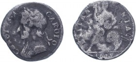 Charles II (1660-1685). Farthing, 1679, Cuir. bust, contemporary counterfeit in white metal (as BMC 530, S.3394). Of good style. Fine.