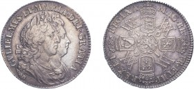 William & Mary (1688-1694). Halfcrown, 1691, second busts, edge TERTIO. (ESC 850, S.3436). Light adjustment lines on reverse. Very Fine.