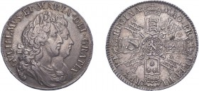 William & Mary (1688-1694). Halfcrown, 1693, second busts, edge QVINTO (ESC 855, S.3436). Good Very Fine.