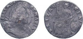 William & Mary (1688-1694). Halfpenny, 1691, tin issue, large busts. Dated on edge though without date in exergue (BMC 574, S.3449). Good Fine and wit...