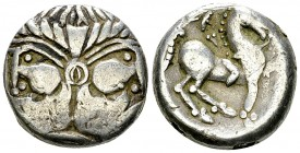 Eastern Celts, AR Tetradrachm, Doppelkopf type 
