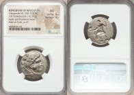 MACEDONIAN KINGDOM. Alexander III the Great (336-323 BC). AR tetradrachm (24mm, 16.99 gm, 5h). NGC AU 4/5 - 3/5. Posthumous issue of Ake or Tyre, date...