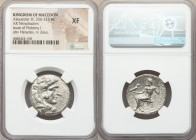 MACEDONIAN KINGDOM. Alexander III the Great (336-323 BC). AR tetradrachm (25mm, 12h). NGC XF. Late lifetime or early posthumous issue of Byblus, under...