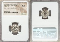 MACEDONIAN KINGDOM. Alexander III the Great (336-323 BC). AR drachm (18mm, 5h). NGC AU. Posthumous issue of Lampsacus, ca. 310-301 BC. Head of Heracle...