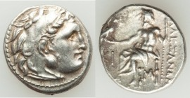 MACEDONIAN KINGDOM. Alexander III the Great (336-323 BC). AR drachm (17mm, 4.18 gm, 8h). XF. Posthumous issue of Lampsacus, ca. 310-301 BC. Head of He...